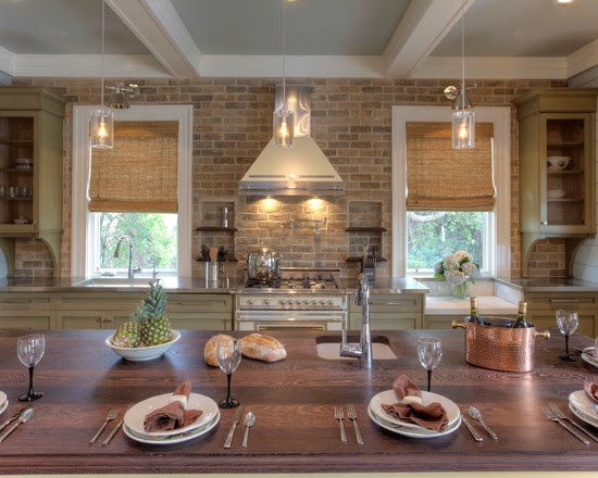 Brick Kitchen Island Ideas