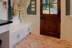 One Of The Most Common Places For Brick Pavers Is An Entryway Or A Hallway  With A Side Door That Leads To A Mudroom.