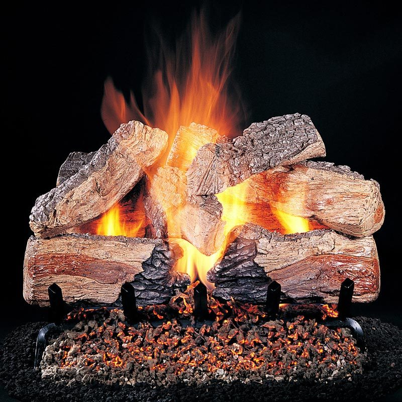 Vented Gas Logs - Single Sided